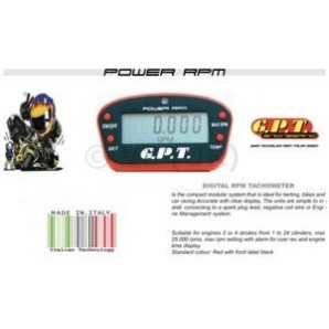 Gpt Power Rpm - Self Powered Digital Rev Counter - 2or4 Stroke - 1to24 Cyl Image 1
