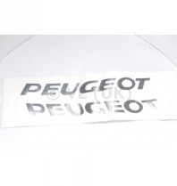 2 X Large 320mm Peugeot Stickers - Black